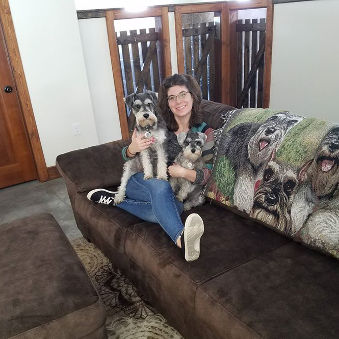 Tanya with dogs